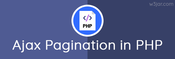Ajax pagination in php MySQLi