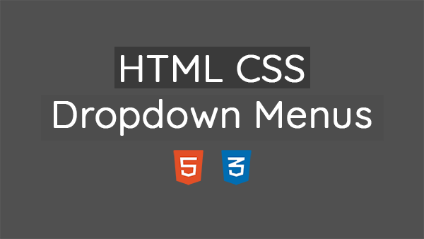 HTML and CSS Simple and Animated Dropdown Menu