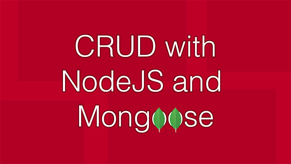 Node JS Mongoose CRUD application