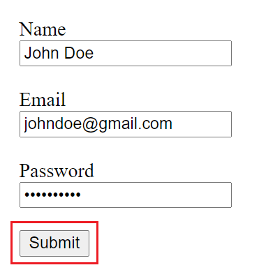 html form submit