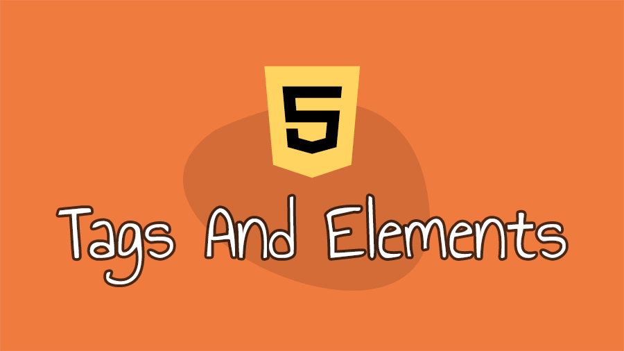 what are html tags and elements?