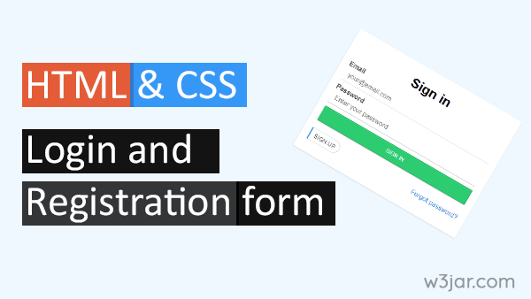 HTML CSS Login and Registration Page Template