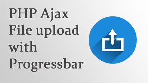 jQuery Ajax image and file upload in PHP and MySQLi with Progressbar